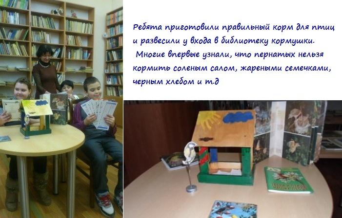 Библиотека Красная поляна - кормушки для птиц