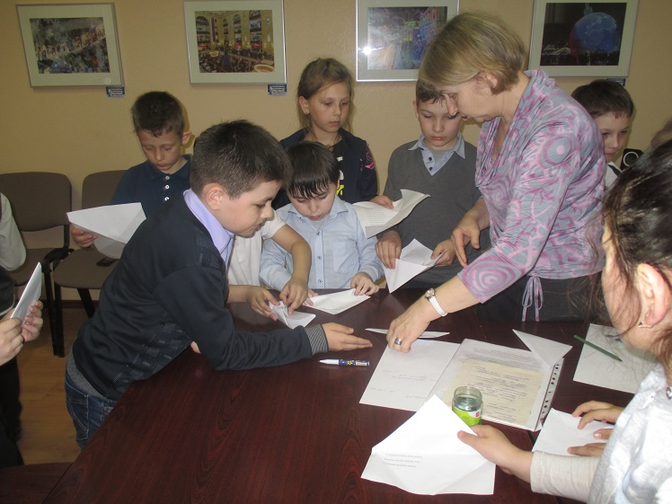 Треугольники судьбы - Центральная библиотека - встреча с учащимися школы №8 2В и 2Г классов 5