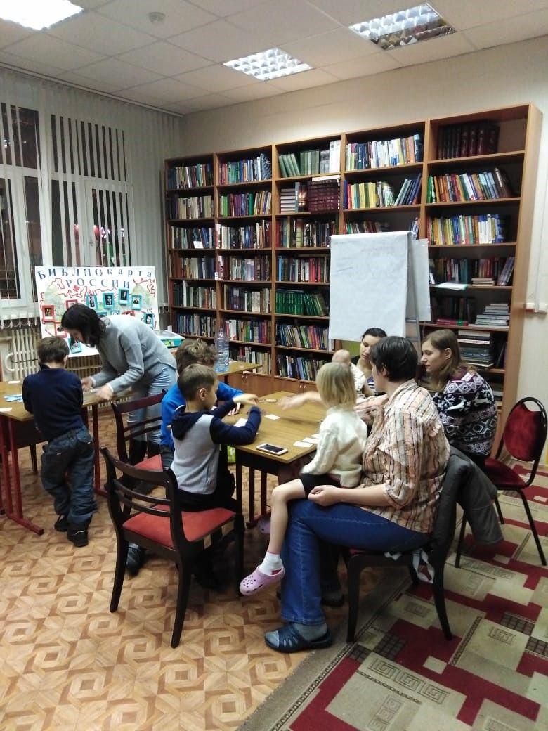 Игровой клуб многодетных мам в Центральной библиотеке