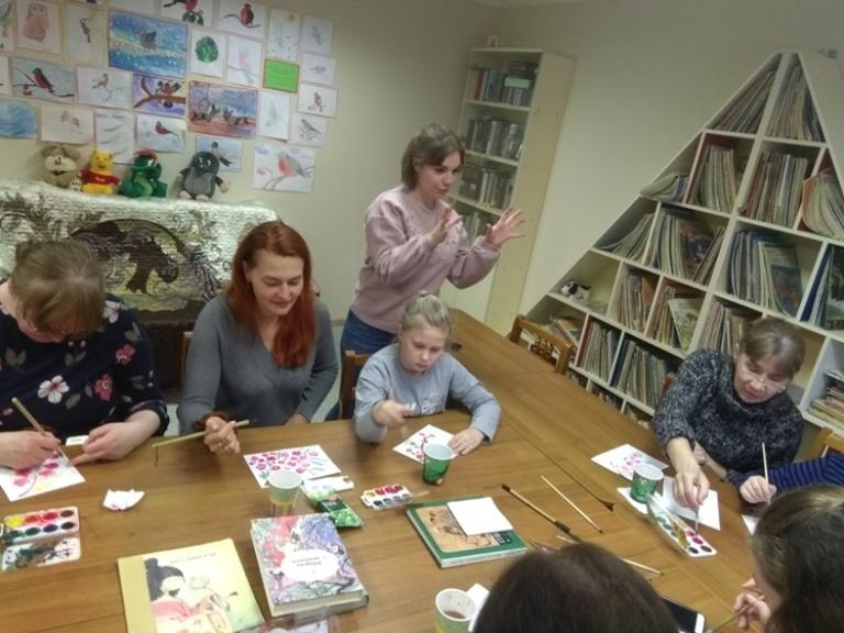 Японская живопись суми-э - Детская библиотека (5)