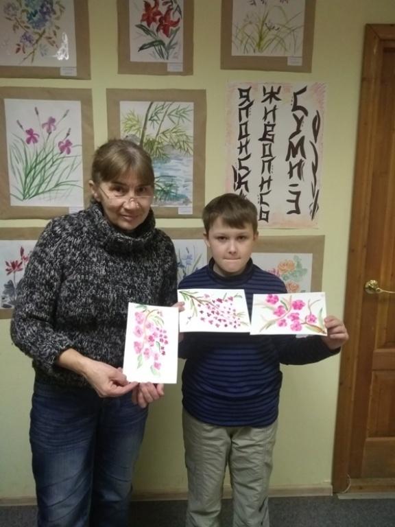 Японская живопись суми-э - Детская библиотека (2)