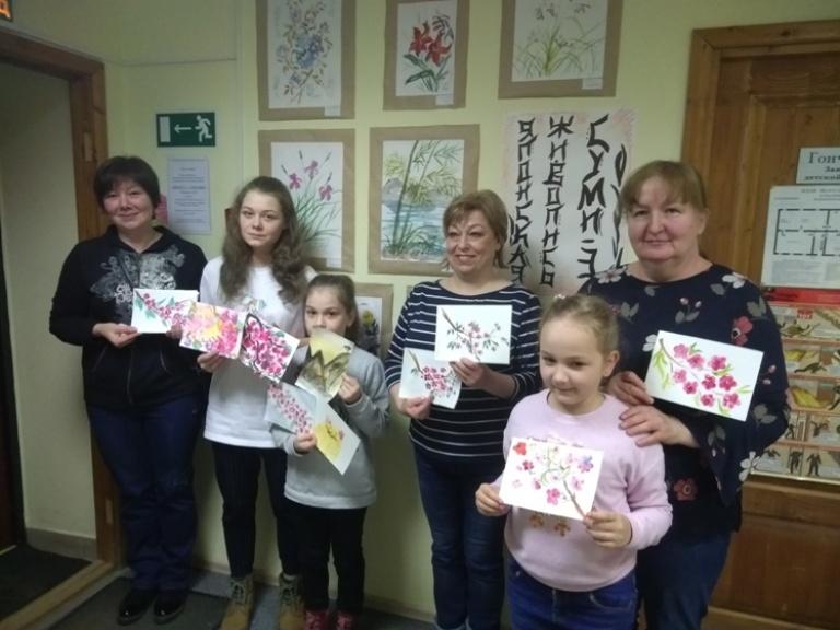 Японская живопись суми-э - Детская библиотека (1)