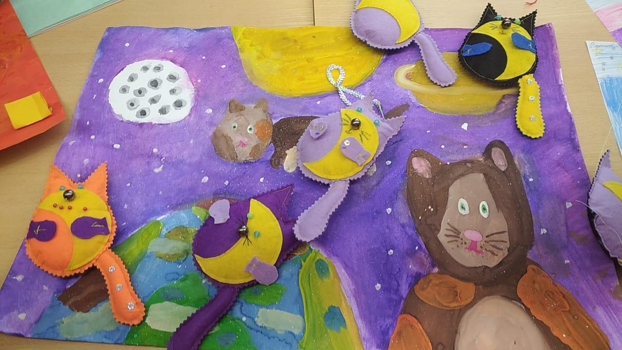 """Творческая мастерская \""""Разноцветный мир\"""" - мастер-класс \""""Лунные коты\"""""""